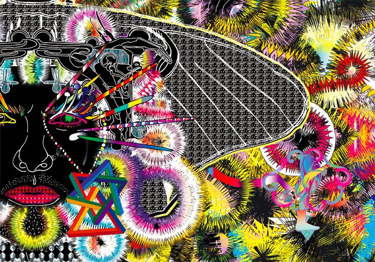 from Comme des Garcon's website, a result of their recent collaboration with artist Assume Vivid Astro Focus at Dover Street Market __ a year's worth of rotating desktop wallpapers