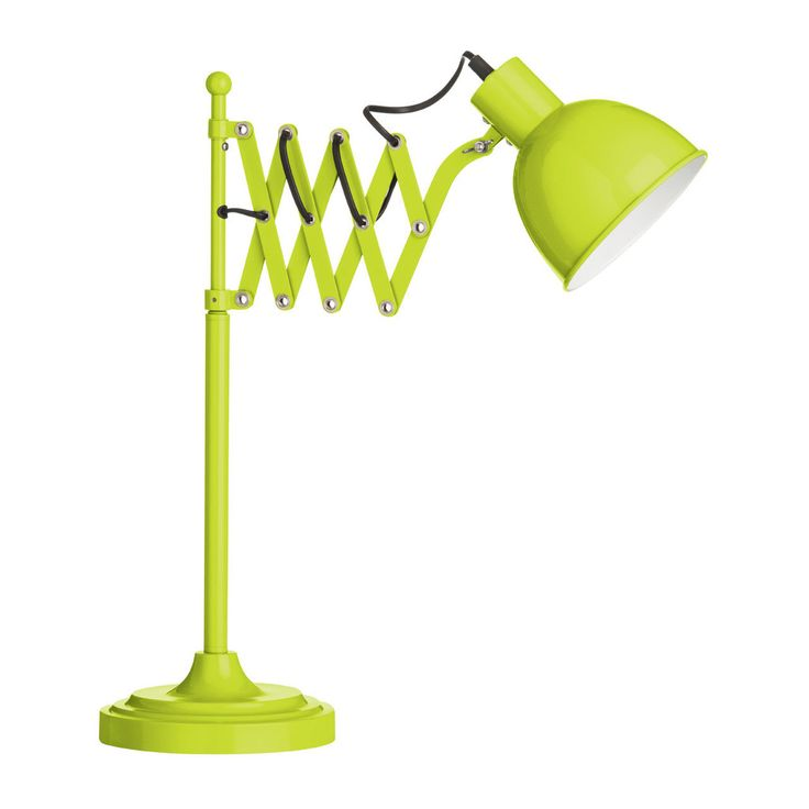 Table Lamp, Lime Green, Extendable