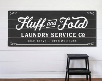 Wash And Dry Primitive  print  Laundry Room by letteredandlined