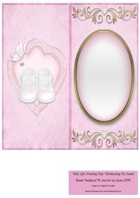 Baby Girl Naming Ceremony Christening DL Insert on Craftsuprint - Add To Basket!