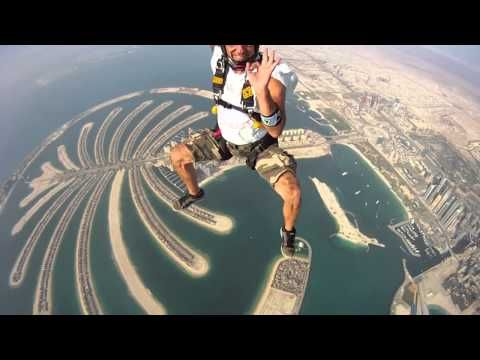 Skydive Dubai ~ May 2011~have fun, and if you can take your eyes off the fly~you might get a peek at the Burj!
