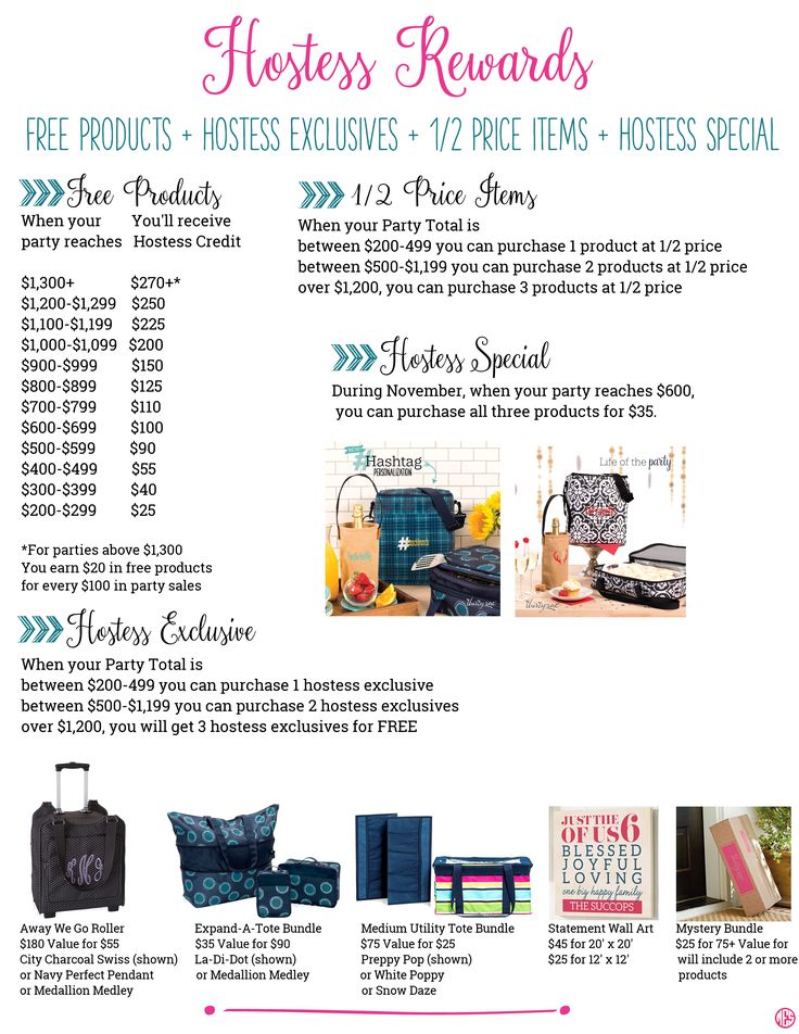 Thirty-One November Hostess Rewards