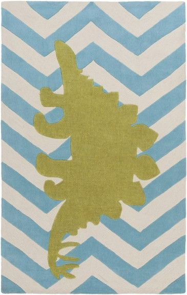 @rosenberryrooms is offering $20 OFF your purchase! Share the news and save!  Chevron Dinosaur Rug in Aqua #rosenberryrooms