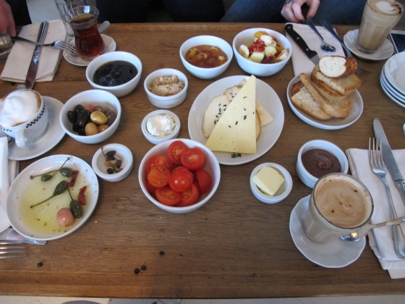 Turkish Breakfast at Mangerie, Istanbul