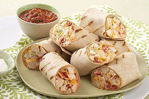Make these Chicken and Avocado Wraps with lettuce, tomato and avocado. Chicken a
