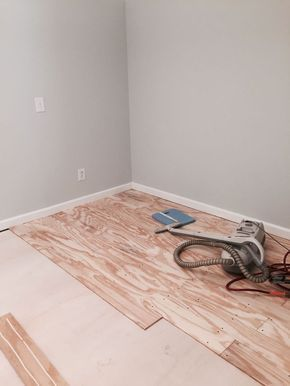 She nails cheap plywood planks on her bedroom floor. 3 days later? My jaw in on the FLOOR!