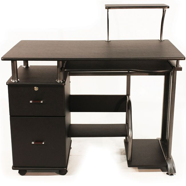 This Black Compact Computer Desk Has Been Created To