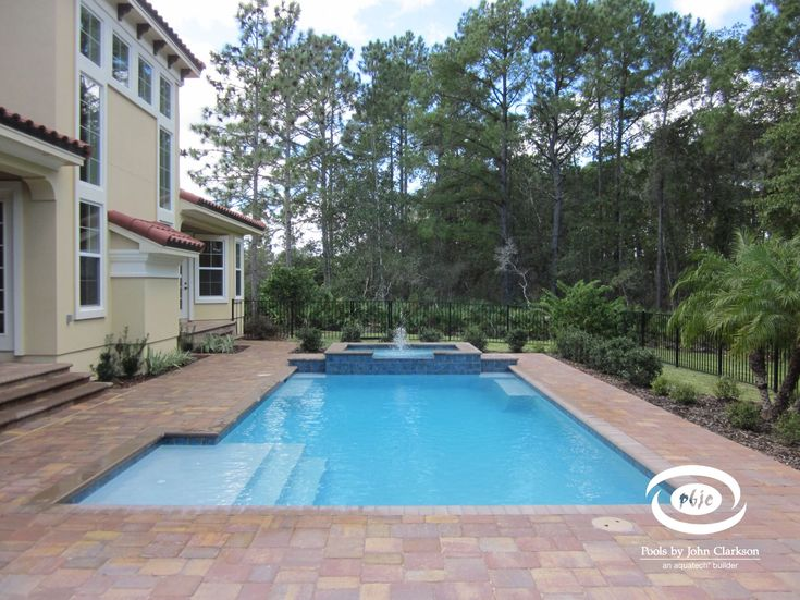 Linear Swimming Pools In Northeast Florida Pools By John Clarkson Swimming Pool House Luxury Swimming Pools Swimming Pools