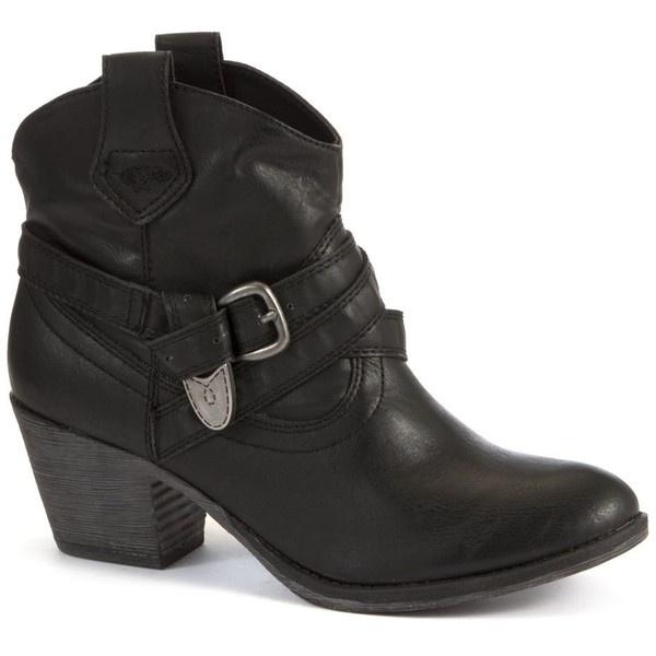 Rocket Dog Black Satire Cowboy Boots ($46) ❤ liked on Polyvore