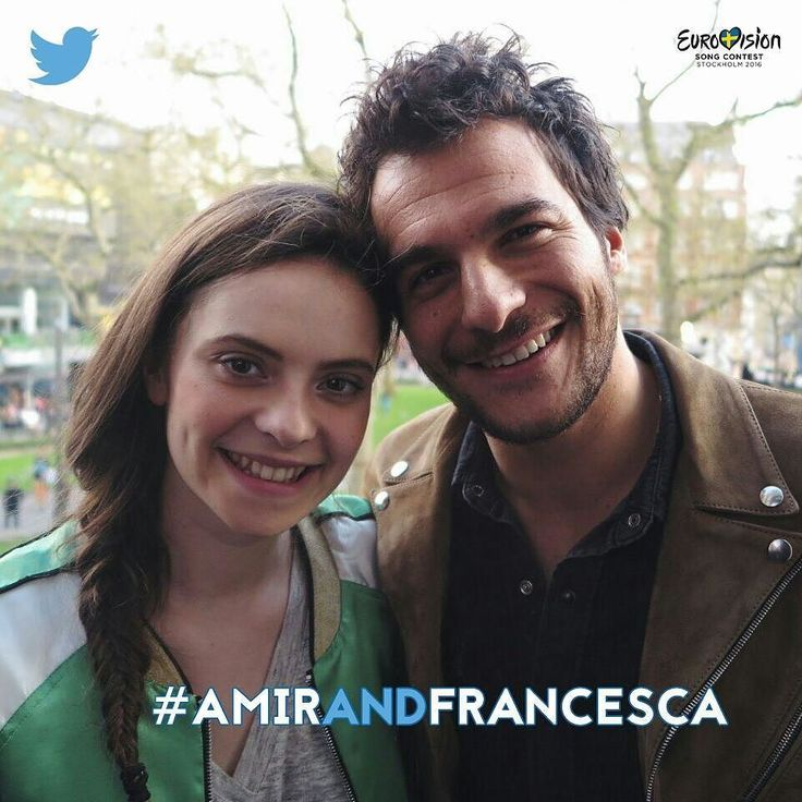 Today at 4.15 pm coffee with @amir_officiel_ !  Q&A time with #AmirAndFrancesca on Twitter  #Eurovision  by francesca_michielin #Eurovision #Eurovision2016