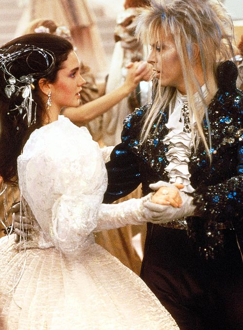 Bowie in Labyrinth (1986). Oh the beginning theatre flashbacks....