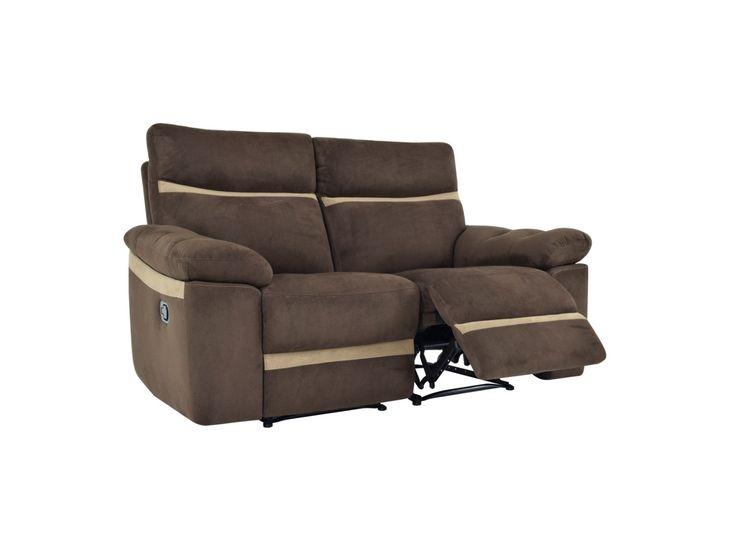 Relaxsofa 2-Sitzer Tarot - Braun
