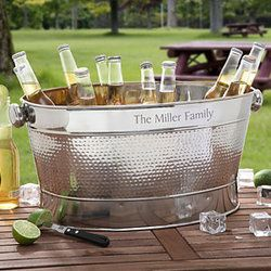 Loving this personalized beverage tub. Definitely getting this and the tub stand before the summer is over.