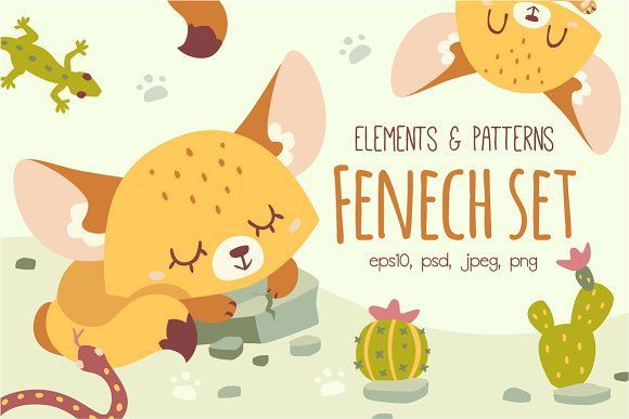 Fenech Set by SunnyWS on @creativemarket