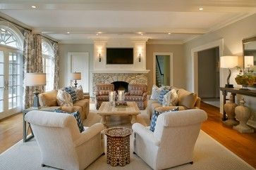 Great Room - traditional - family room - new york - Design House