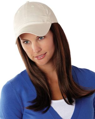 how to wear a cap with long hair