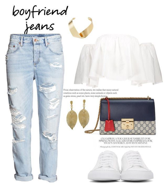 """Untitled #3800"" by janicemckay ❤ liked on Polyvore featuring H&M, Common Projects, Kenneth Jay Lane and Gucci"