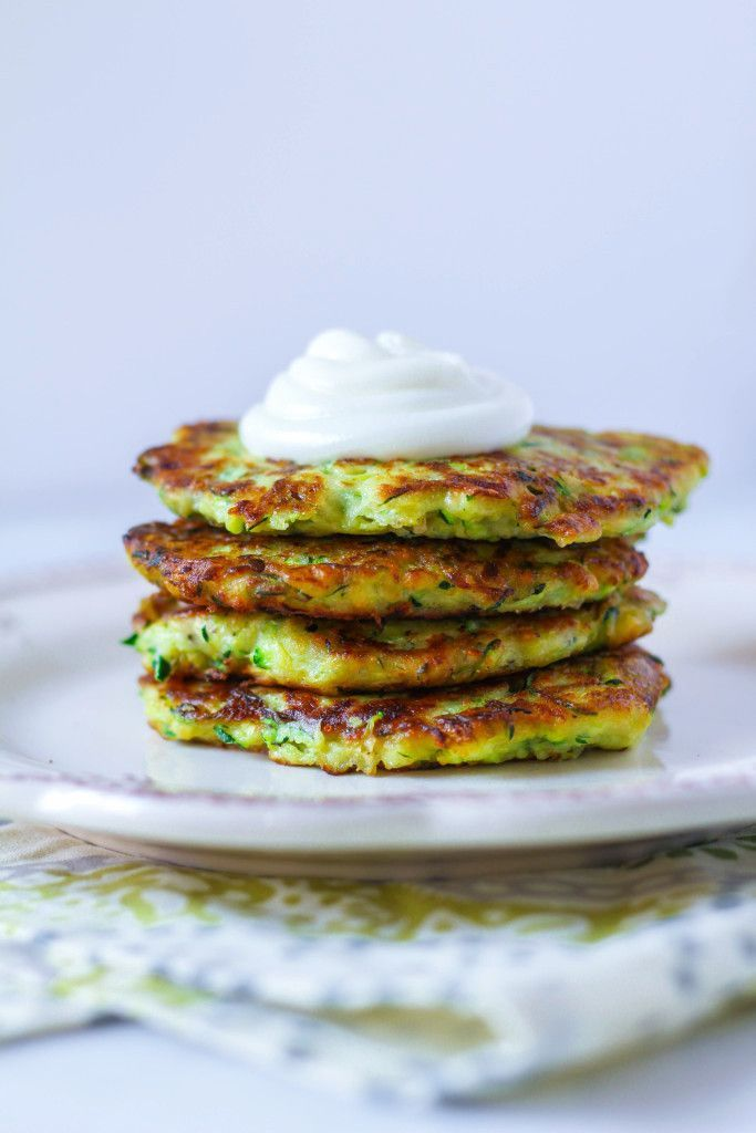 Parmesan and Garlic Zucchini Pancakes