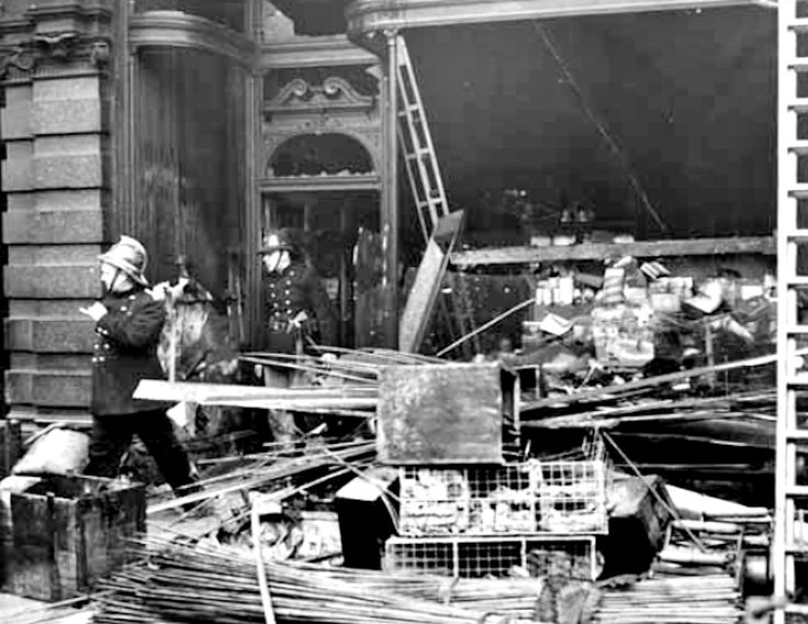 1954 Leeds market after a fire
