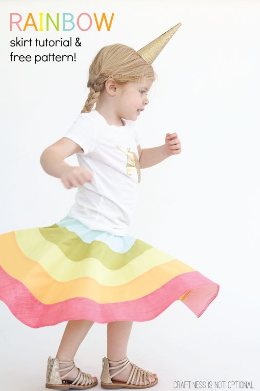 RAINBOW SKIRT TUTORIAL AND FREE PATTERN