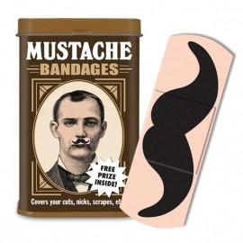 Voor de snor-liefhebber! Om de ondraaglijke pijn van de wond te verzachten zit er in elk blikje, naast 15 pleisters, een gratis cadeautje: http://www.djello.nl/a-24263200/stick-it/mustache-bandages