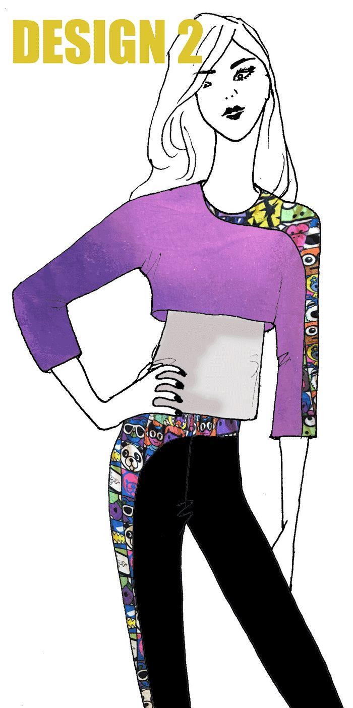 Design 2 in the athleisure wear design challenge on www.duellingdesig... Vote for your favourite.