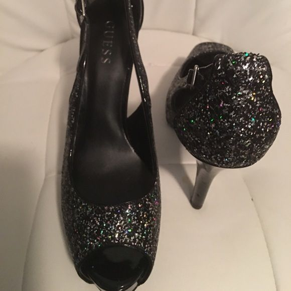 ReducedNew GUESS ladies Pumps Glittered black pumps byGUESS. Size 9.5 Guess by Marciano Shoes Heels