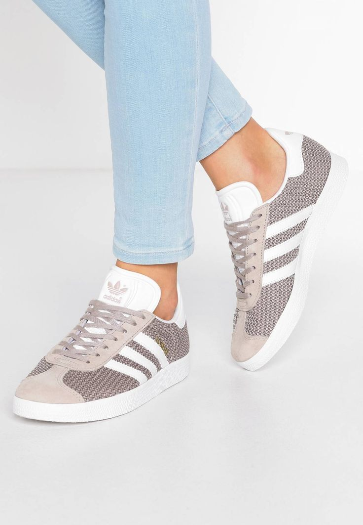 adidas originals gazelle - baskets basses - solid grey/off white/gold