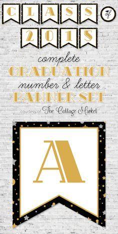 Free Printable Graduation Banner Set - The Cottage Market