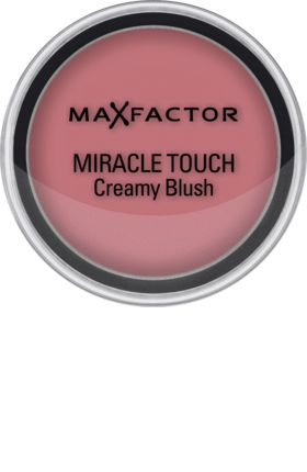 Die nicht-fettende Formel des Max Factor Miracle Touch Creamy Blush 14 Soft Pink verwandelt sich auf der Haut in eine zartschmelzende Creme, die sich leich...