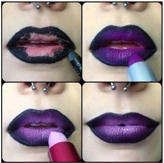 A good way to do purple lipstick (I can do this!)