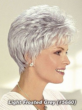 2016 Newest Women Short Grey Wig, Old Ladies Wigs Online | p4
