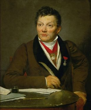 portrait d'Alexandre Lenoir par Jacques-Louis David. Réalisé en 1810-11 d'après la liste établie par David lui-même1, repris vraisemblablement en 1817 alors que le peintre est en exil à Bruxelles.