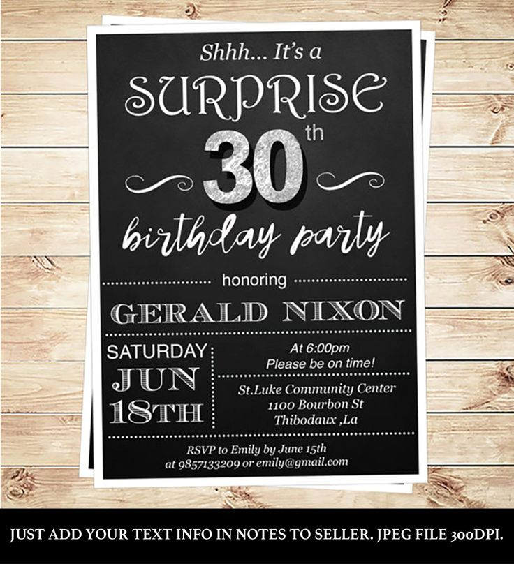212 best Birthday – Surprise 30th Birthday Invites