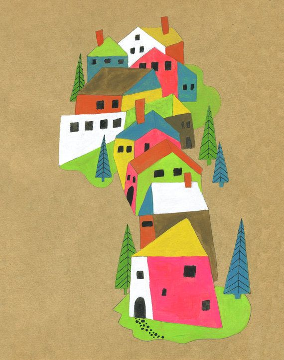 French Countryside Archival Print by lisacongdon on Etsy, $22.00