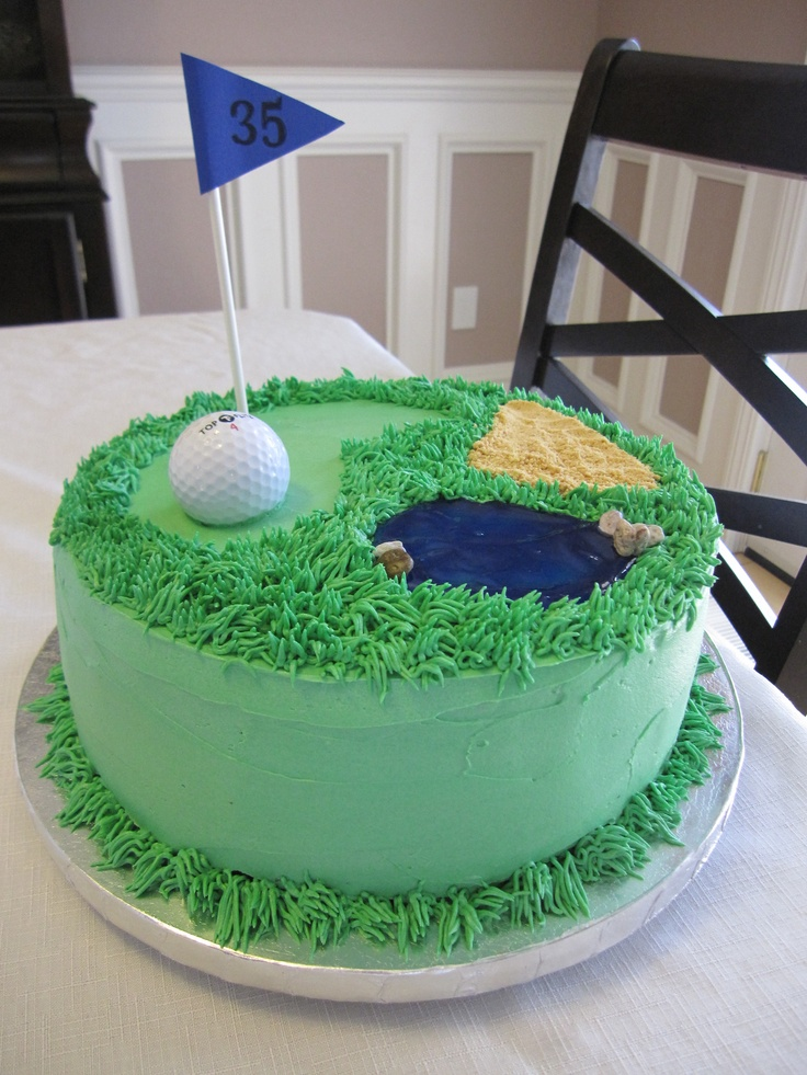 Golf Cake  sweet tooth  Pinterest  Dads, Birthdays and Golf cakes