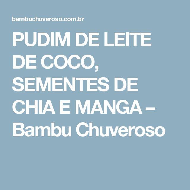 PUDIM DE LEITE DE COCO, SEMENTES DE CHIA E MANGA – Bambu Chuveroso