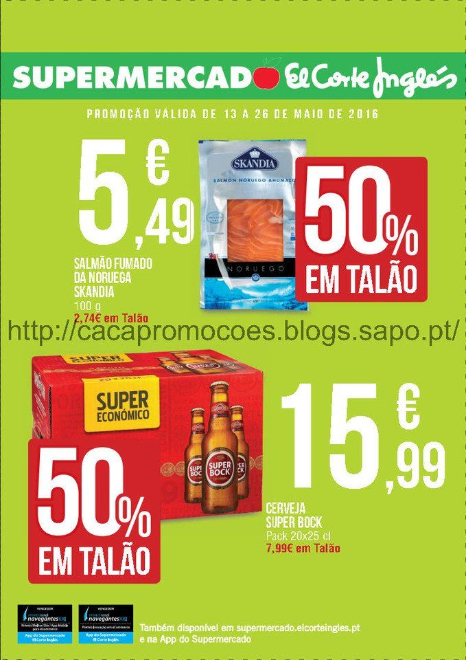 Promoções Supermercado El Corte Inglês - folheto 13 a 26 maio - http://parapoupar.com/promocoes-supermercado-el-corte-ingles-folheto-13-a-26-maio/