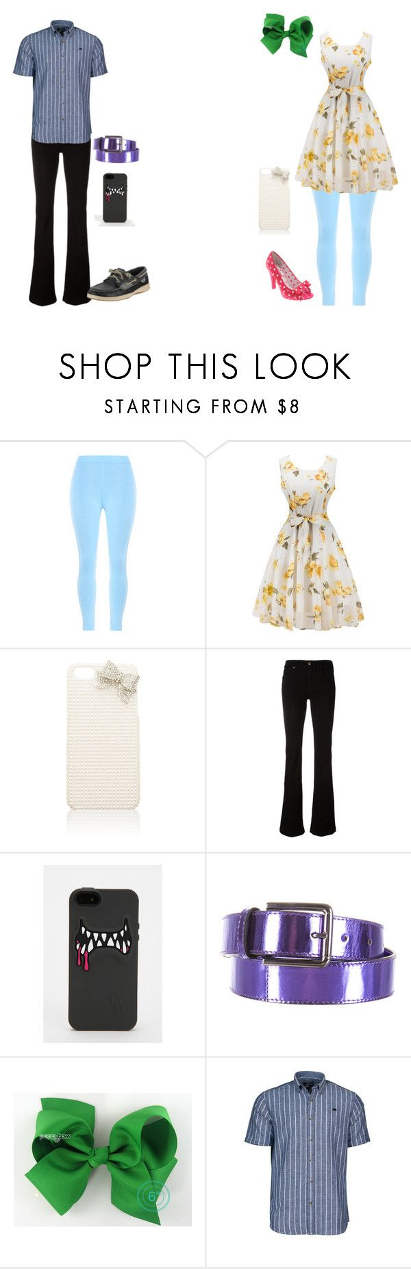 """""""Girly Girl vs Tomboy: Signature outfits (sequel)"""" by sierra-ivy on Polyvore featuring WithChic, Forever New, 7 For All Mankind, Ports 1961, Raging Bull and Sperry"""