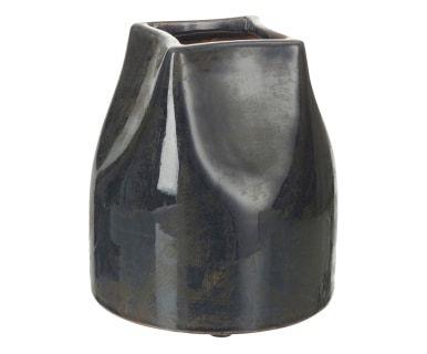 Vaso in terracotta Jean blu scuro, 17x19 cm