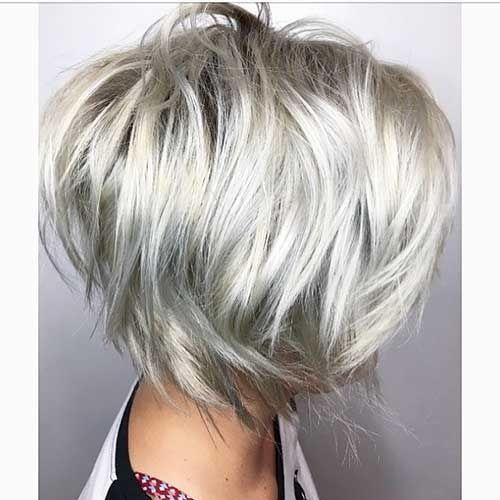 12 short layered haircut frisuren pinterest frisur - Pinterest frisuren bob ...
