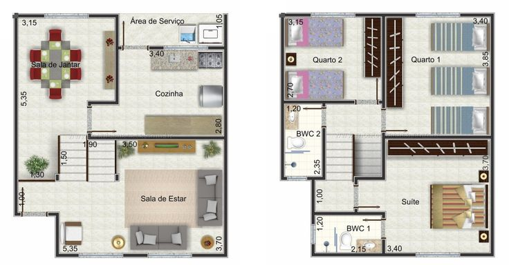 46 best Casas images on Pinterest Floor plans, House template and