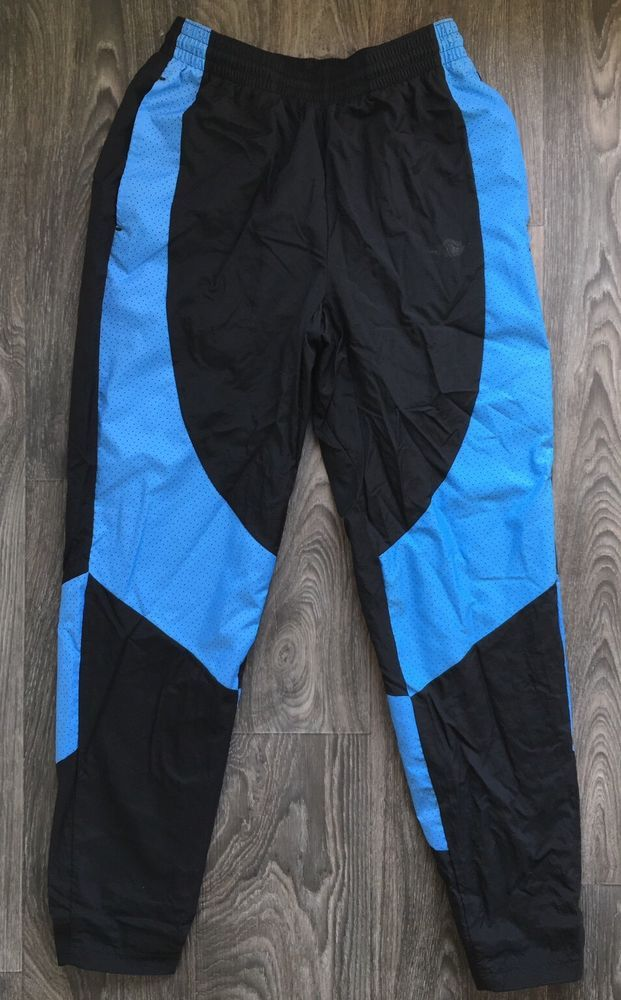 9b5f3002cba76 Air Jordan Pants Flight Warm Up Nylon Mint! Black/Blue Basketball ...