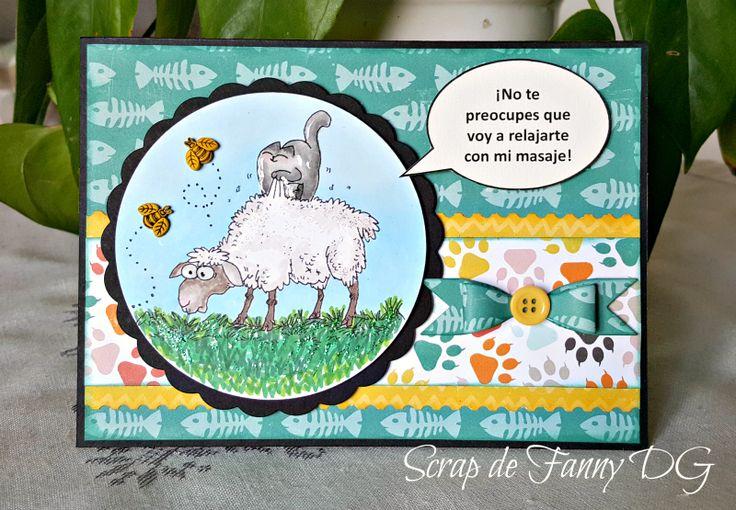 """Scrap de Fanny DG Papeles colección """"Meow"""" Echo Parc Paper.... Imagen; Simon's Cat"""