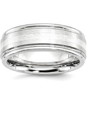 Jewelry & Watches Titanium 14k Yellow Inlay 8mm Brushed Wedding Ring Band Size 9.50 Precious Engagement & Wedding