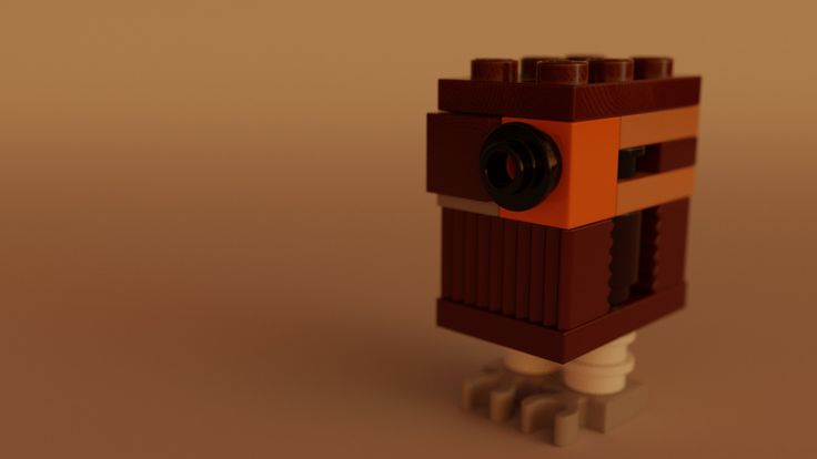 https://flic.kr/p/TKshpa | sw767: Gonk Droid - Reddish Brown (75146) | Just a quick build and render from the 2016 Star Wars Advent Calendar.