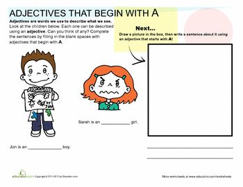 adjectives that start with a b articles start with and worksheets on 26829 | 2845ee63b8f723cbe76b8c6a8358768a