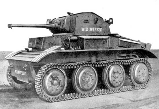 Light Tank Mk VII, Tetrarch The Tetrarch was a British light tank. Because of the tank's design flaws, and the decision by the War Office not to use light tanks in British armored divisions, the majority of the tanks remained in Britain. Approximately 100–177 were built during World War II