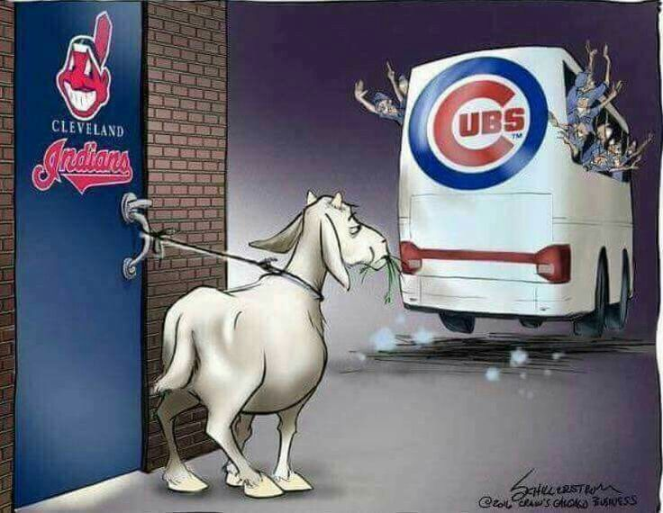 Love it!  Bye Bye goat!   #LaughingSoHard #GoCubsGo
