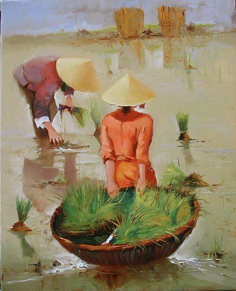 les 21 meilleures images du tableau peinture asiatique sur pinterest peintures asiatiques. Black Bedroom Furniture Sets. Home Design Ideas